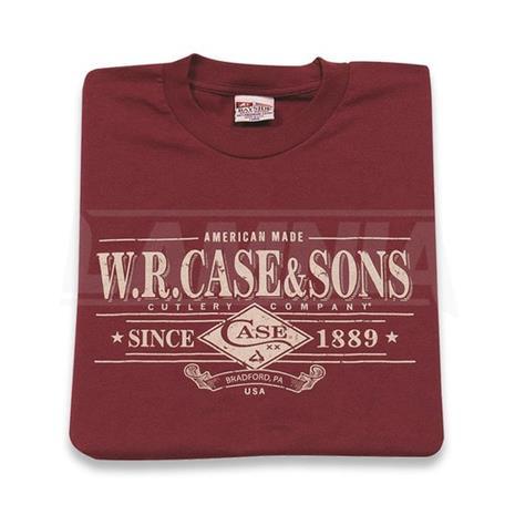 Case Cutlery Maroon t-paita, 3XL