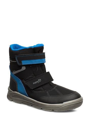 Superfit Mars Talvikengät Tarroilla Musta Superfit BLACK/BLUE