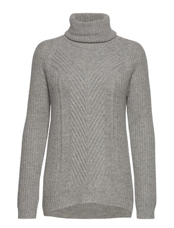 ANDIATA Hollie High Neck Chunky Knit Kilpikonnakaulus Poolopaita Harmaa ANDIATA LIGHT GREY