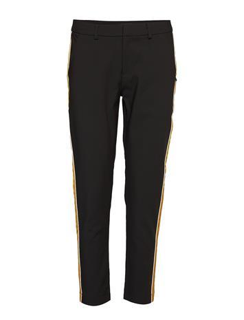 SCOTCH & SODA Tailored Stetch Pants With Contrast Side Panel Suoralahkeiset Housut Musta SCOTCH & SODA BLACK