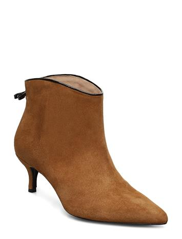 CUSTOMMADE Casie Suede Shoes Boots Ankle Boots Ankle Boots With Heel Ruskea CUSTOMMADE CAMEL