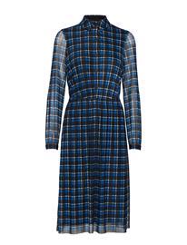 TAIFUN Dress Knitted Fabric Polvipituinen Mekko Sininen TAIFUN COBALT BLUE PATTERNED