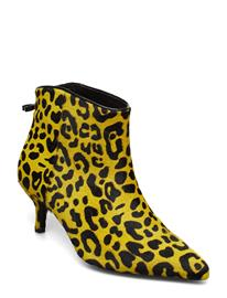 CUSTOMMADE Abira Leo Shoes Boots Ankle Boots Ankle Boots With Heel Keltainen CUSTOMMADE SUPER LEMON