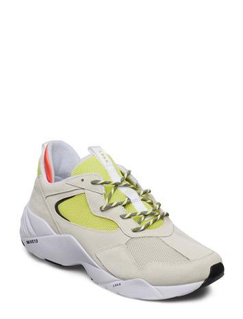 ARKK COPENHAGEN Kanetyk Suede W13 Off White Neon Li Matalavartiset Sneakerit Tennarit Kermanvärinen ARKK COPENHAGEN OFF WHITE NEON LIME