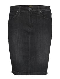 LEE JEANS Pencil Skirt Polvipituinen Hame Musta LEE JEANS BLACK ORRICK