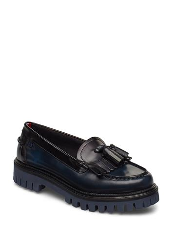 TOMMY HILFIGER Iconic Polished Loafer Loaferit Matalat Kengät Musta TOMMY HILFIGER BLACK IRIS