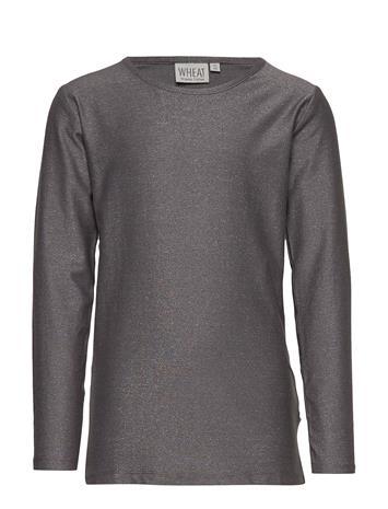 WHEAT T-Shirt Valborg T-shirts Long-sleeved T-shirts Harmaa WHEAT DARK SILVER