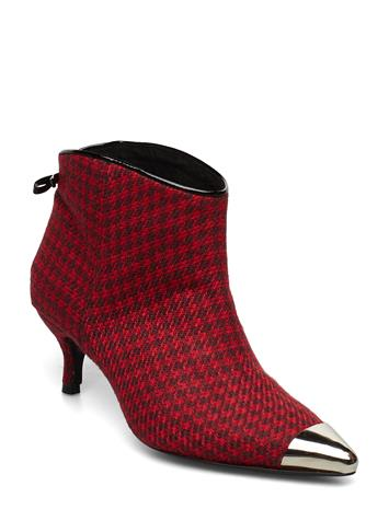 CUSTOMMADE Aniv Houndstooth Shoes Boots Ankle Boots Ankle Boots With Heel Punainen CUSTOMMADE SKI PATROL