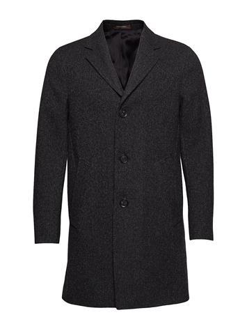 OSCAR JACOBSON Storvik Coat Outerwear Coats Wool Coats Musta OSCAR JACOBSON 101 - BLACK GREY