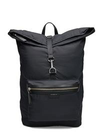 SANDQVIST Siv Bags Backpacks Use This Casual Backpacks Musta SANDQVIST BLACK WITH BLACK LEATHER