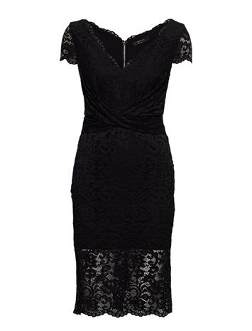 MARCIANO BY GUESS Claudia Lace Dress Polvipituinen Mekko Musta MARCIANO BY GUESS JET BLACK A996