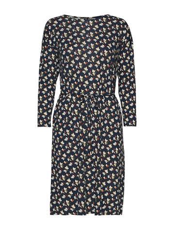 GANT D1. Aop Jersey Dress Polvipituinen Mekko Sininen GANT EVENING BLUE