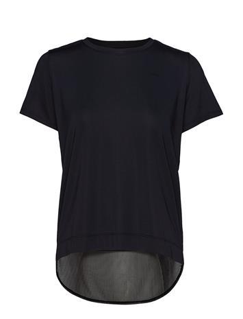 Rä–HNISCH Mesh Back Tee T-shirts & Tops Short-sleeved Musta Rä–HNISCH BLACK