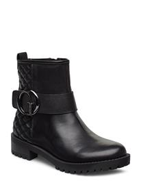 GUESS Hadasa/Stivaletto /Lea Shoes Boots Ankle Boots Ankle Boots Flat Heel Musta GUESS BLACK