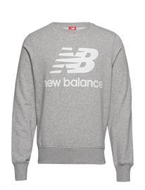 NEW BALANCE Essentials Stacked Logo Crew Svetari Collegepaita Musta NEW BALANCE BLACK