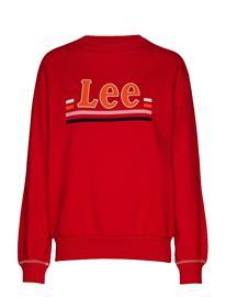 LEE JEANS Logo Sws Svetari Collegepaita Punainen LEE JEANS WARP RED