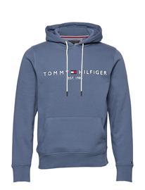 TOMMY HILFIGER Tommy Logo Hoody, Xu Huppari Harmaa TOMMY HILFIGER SILVER FOG HEATHER