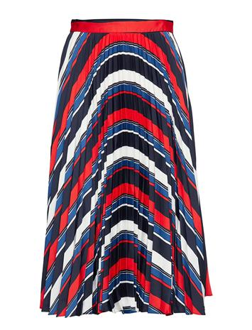 GANT D1. Preppy Stripe Pleated Skirt Polvipituinen Hame Sininen GANT EVENING BLUE