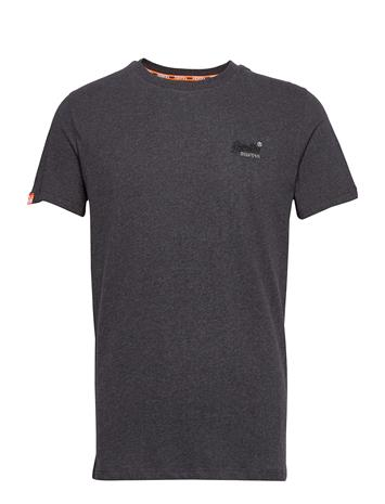 SUPERDRY Ol Vintage Embroidery Tee T-shirts Short-sleeved Musta SUPERDRY NORDIC CHARCOAL MARL
