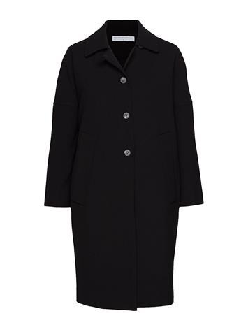 CATHRINE HAMMEL Cocoon Overcoat Outerwear Coats Wool Coats Musta CATHRINE HAMMEL BLACK