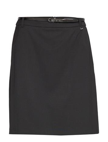 ESPRIT COLLECTION Skirts Woven Polvipituinen Hame Musta ESPRIT COLLECTION BLACK