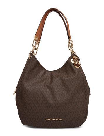 MICHAEL KORS BAGS Lillie Lg Chain Shldr Tote Bags Top Handle Bags Ruskea MICHAEL KORS BAGS BRN/ACORN