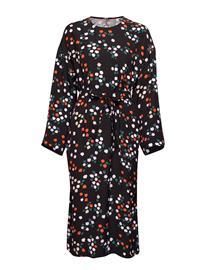 Marimekko Karsi Taivaankukat Dress Polvipituinen Mekko Musta Marimekko BLACK, GREEN, RED