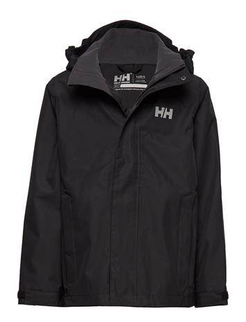 Helly Hansen Jr Seven J Jacket Outerwear Rainwear Jackets Musta Helly Hansen BLACK
