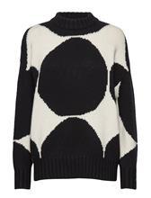 Marimekko Valkeus Kivet Knitted Pullover Neulepaita Valkoinen Marimekko WHITE, BLACK