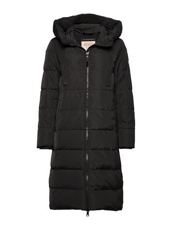 MOS MOSH Nova Down Coat Topattu Pitkä Takki Musta MOS MOSH BLACK