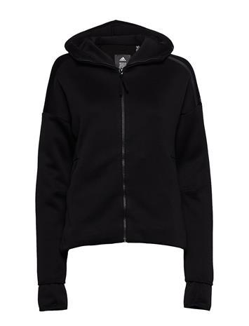 ADIDAS W Zne Hd Fr Sweat-shirts & Hoodies Zip Throughs Musta ADIDAS BLACK/BLACK