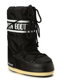 MOON BOOT Moon Boot Nylon Bootsit Nauhalliset Saapikkaat Musta MOON BOOT BLACK