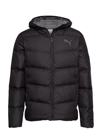 PUMA Essentials 400 Down Hooded Jacket Vuorillinen Takki Topattu Takki Musta PUMA PUMA BLACK