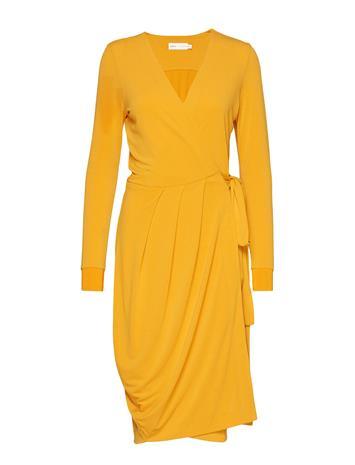 INWEAR Imeldaiw Wrap Dress Polvipituinen Mekko Keltainen INWEAR SUNNY YELLOW