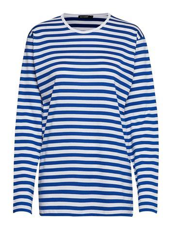 MARIMEKKO PitkäHiha Shirt T-shirts & Tops Long-sleeved Sininen MARIMEKKO WHITE, BLUE