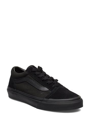 VANS Uy Old Skool Blk Mno Tennarit Sneakerit Kengät Musta VANS (JUNIOR) BLACK MONO