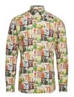 Eton Tennis Print Multicoloured Shirt PINK/RED