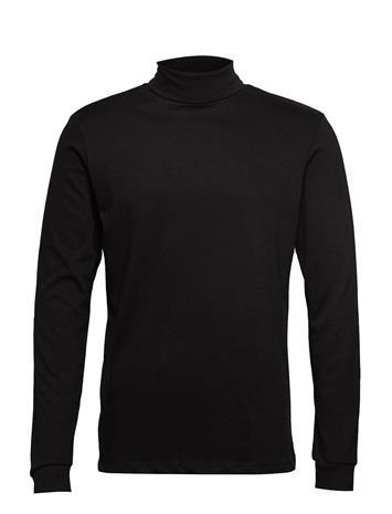 MANGO MAN Stand Collar T-Shirt Knitwear Turtlenecks Musta MANGO MAN BLACK