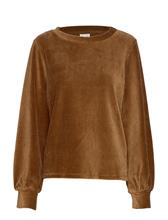 VILA Vikita L/S Top T-shirts & Tops Long-sleeved Ruskea VILA TOFFEE