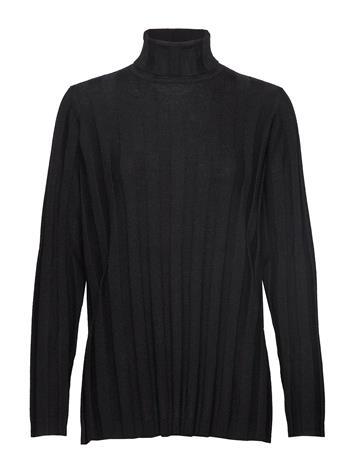MARIMEKKO Vertaus Solid Knitted Tunic Kilpikonnakaulus Poolopaita Musta MARIMEKKO BLACK