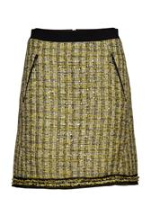 Karl Lagerfeld A-Line Boucle Skirt YELLOW
