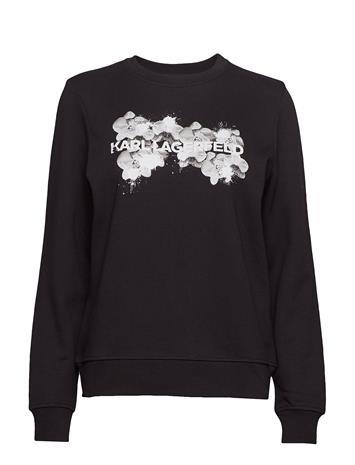 KARL LAGERFELD Orchid Logo Sweatshirt Svetari Collegepaita Musta KARL LAGERFELD 999 BLACK