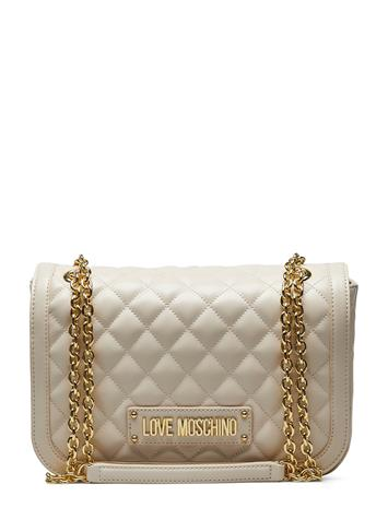 LOVE MOSCHINO BAGS New Shiny Quilted Bags Small Shoulder Bags/crossbody Bags Beige LOVE MOSCHINO BAGS IVORY