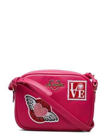 LOVE MOSCHINO BAGS Love Moschino Patches Bags Small Shoulder Bags/crossbody Bags Vaaleanpunainen LOVE MOSCHINO BAGS FUSCHIA