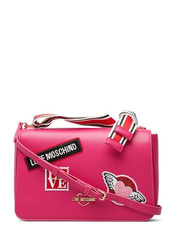 LOVE MOSCHINO BAGS Love Moschino Patches Bags Small Shoulder Bags/crossbody Bags Vaaleanpunainen LOVE MOSCHINO BAGS FUCSHIA