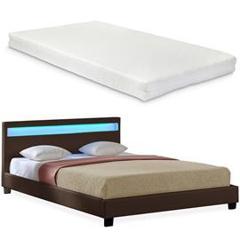 Corium® Tyylikäs verhoiltu sänky PU tekonahka 210cm x 149cm tummanruskea