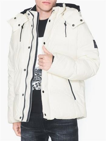 Calvin Klein Mid Length Fake Down Takit Egret