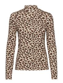 Vila Vibulis Animala Funnel Neck L/S T-Shirt T-shirts & Tops Long-sleeved Harmaa Vila SANDSHELL
