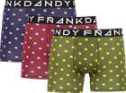 Frank Dandy M 3P PLAIN DOT BOXER BLUE/RED/GREEN