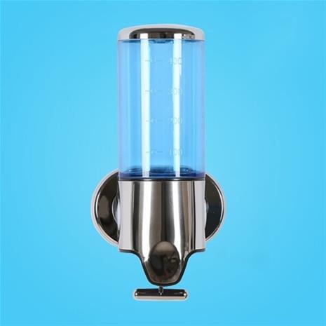 Saippua-annostelija ruostumatonta terästä ja sinistä läpinäkyvää muovia - 500 ml, Suuhygienia